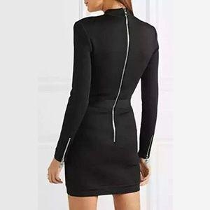 """Dresses - """"Reunion"""" Black Lace Up Bodycon dress"""